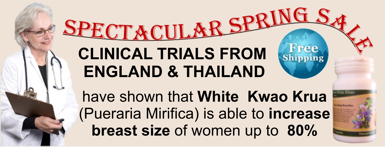 Increase Breast Size With White Kwao Krua (Pueraria Mirifica)